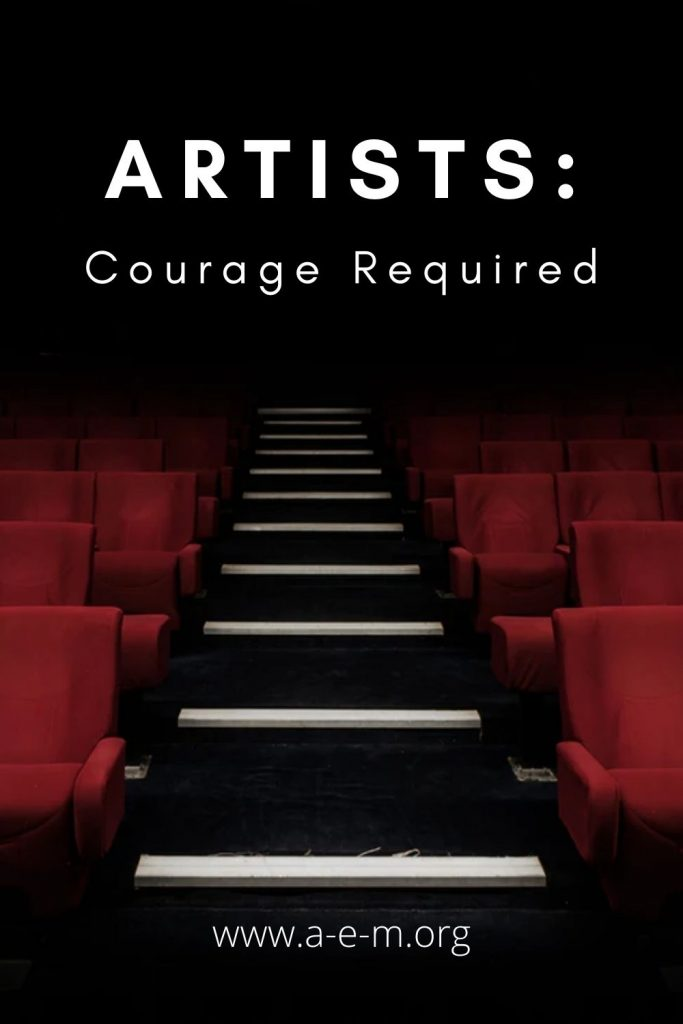 artists courage required