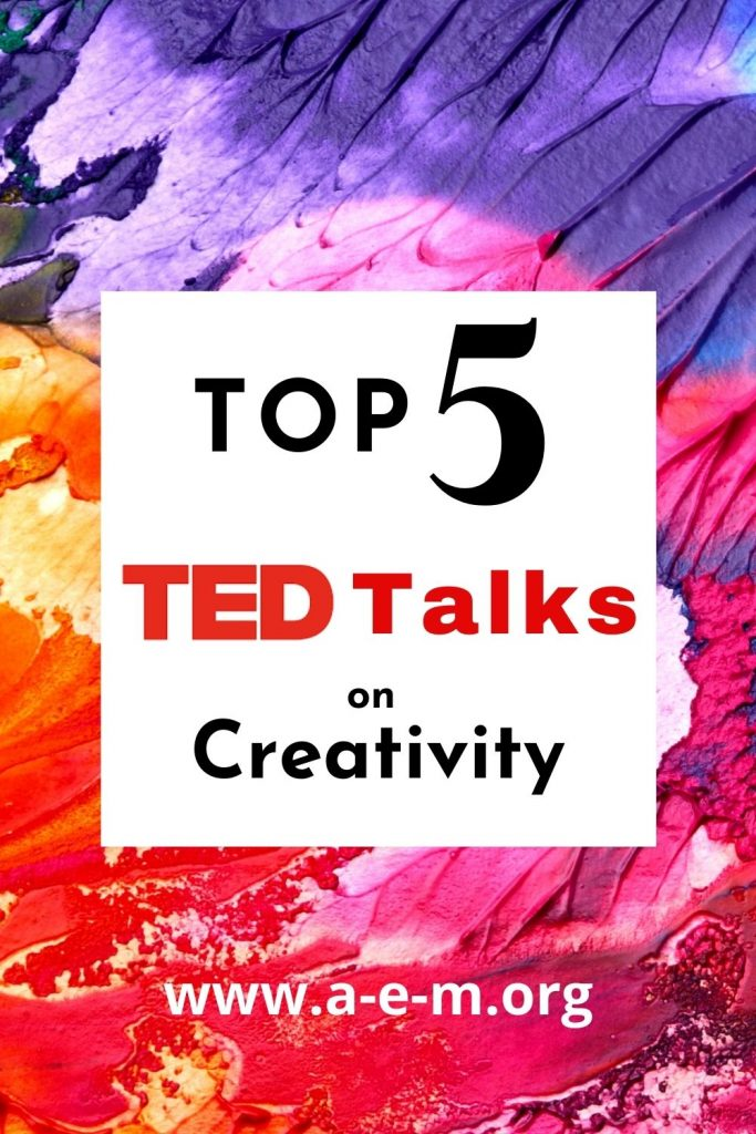 top 5 ted talks on creativity pin