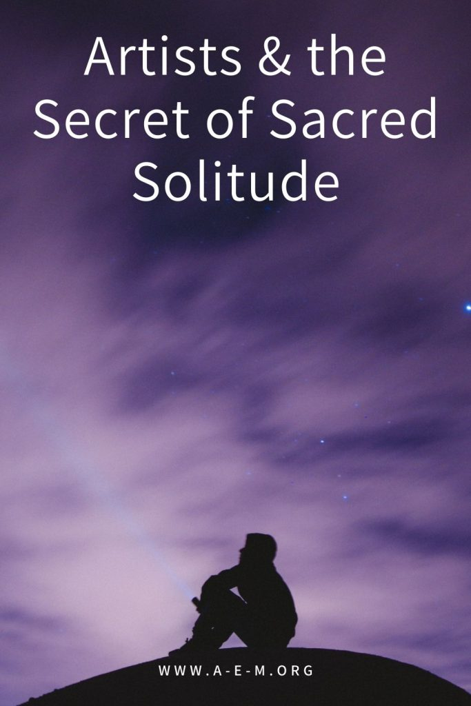 artists and the secrfet of sacred solitude pin